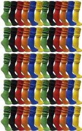 60 Units of Yacht & Smith Womens Cotton Slouch Socks, Womans Knee High Boot Socks (60 Pack Assorted) - Womens Crew Sock