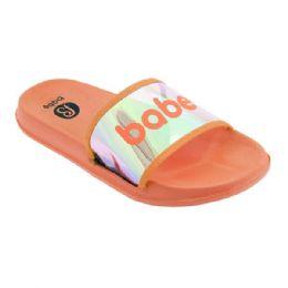 48 Units of Girls Babe Sandals In Orange - Girls Flip Flops