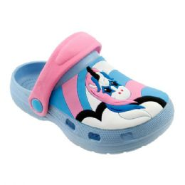 48 Units of Girls Unicorn Garden Shoes In Blue And Pink - Girls Flip Flops