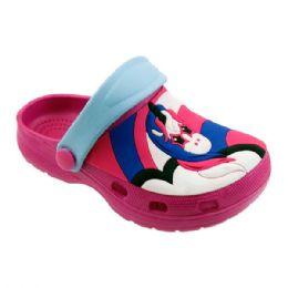 48 Units of Girls Unicorn Garden Shoes In Fuschia And Blue - Girls Flip Flops
