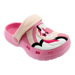 48 Units of Girls Unicorn Garden Shoes In Pink And Nude - Girls Flip Flops