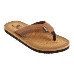 36 Units of Mens Flip Flip In Brown - Men's Flip Flops and Sandals