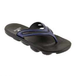 48 Units of Mens Sport Sandals In Black And Navy - Men's Flip Flops and Sandals