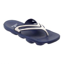48 Units of Mens Sport Sandals In Navy And White - Men's Flip Flops and Sandals