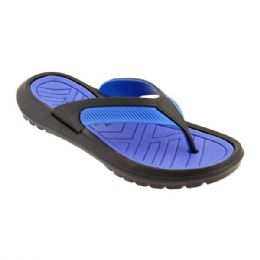 48 Units of Mens Thong Sandals In Black And Blue - Men's Flip Flops and Sandals