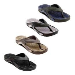 48 Units of Mens Thong Sandals In Assorted Color - Men's Flip Flops and Sandals