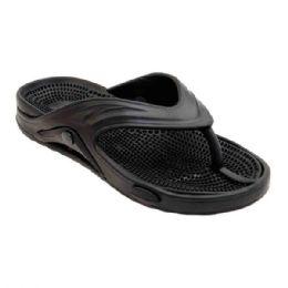 48 Units of Mens Thong Sandals In Black - Men's Flip Flops and Sandals