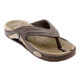 48 Units of Mens Thong Sandals In Brown - Men's Flip Flops and Sandals