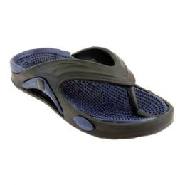48 Units of Mens Thong Sandals In Navy And Black - Men's Flip Flops and Sandals