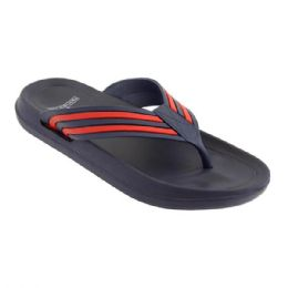 36 Units of Mens Sandals In Navy And Red - Men's Flip Flops and Sandals