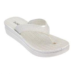 30 Units of Women's Butterfly Thong Sandals In Silver - Women's Flip Flops