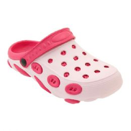 36 Units of Women's Clogs In Fuschia And Pink - Women's Sandals