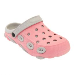 36 Units of Women's Clogs In Pink And Grey - Women's Sandals