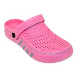 36 Units of Women's Clogs In Fuschia - Women's Sandals