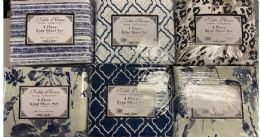 12 Units of TWIN PRINTED MICROFIBER SHEET SETS - Sheet Sets