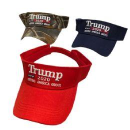 24 Units of Visor TRUMP 2020 - Sun Hats