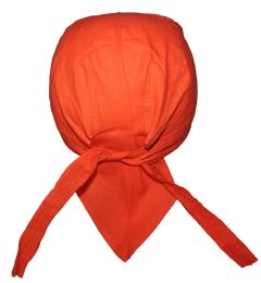240 Units of Orange Food Service Medical Skull Cap Head Wrap DO-RAG Chef Cook Medical Field - PPE Gowns