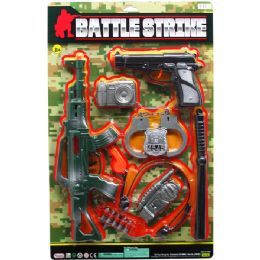"""12 Units of 15"""" M16 ASSAULT TOY RIFLE MILITARY SET ON BLISTER CARD - Toy Weapons"""