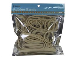 72 Units of Natural Color Rubber Bands In Assorted Sizes - Rubber bands