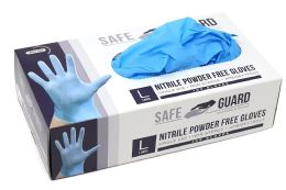 1000 Units of Nitrile Powder Free Exam Gloves Single Use Medical Graded Size M - PPE Gloves