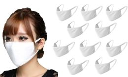 20 Units of Antibacterial Reusable & Washable Breathable Face Mask, White Only - PPE Mask