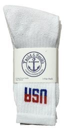 24 Units of Yacht & Smith Men's King Size Cotton Terry Cushion Crew Socks Usa Size 13-16 Bulk Pack - Big And Tall Mens Crew Socks