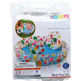 """12 Units of 48"""" X 10"""" STARGAZE POOL SET W/ 20"""" BALL & RING IN POLY BAG - Summer Toys"""
