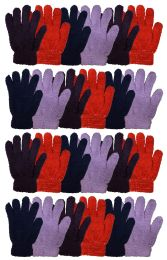 24 Units of Yacht & Smtih Womens Assorted Colors Warm Fuzzy Gloves - Fuzzy Gloves