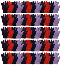 120 Units of Yacht & Smtih Womens Assorted Colors Warm Fuzzy Gloves - Fuzzy Gloves