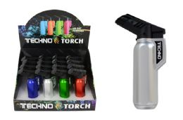16 Units of SLANTED TORCH LIGHTER (METALLIC) - Lighters