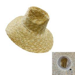 24 Units of Large Brim Straw Hat - Cowboy & Boonie Hat