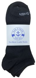 48 Units of Yacht & Smith Mens 97% Cotton Low Cut No Show Loafer Socks Size 10-13 Solid Black - Mens Ankle Sock