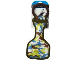 9 Units of Camouflage Dog Tug Toy With Rope Handle - Pet Toys