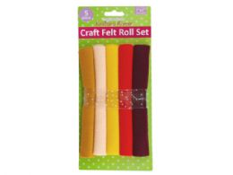 72 Units of 7 Inch X 7 Inch Felt Rolls 5 Piece - Hardware