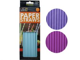 72 Units of 25 Pack Paper Drinking Straws - Straws and Stirrers