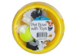 24 Units of Dog Bowl W/toy - Pet Toys