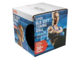 12 Units of Spri 6lb Soft Toning Weight Ball - Fitness and Athletics