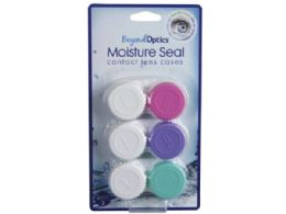 108 Units of Beyond Optics 3 Pack Easy Grip Contact Lens Cases In Assorted Colors - Personal Care Items