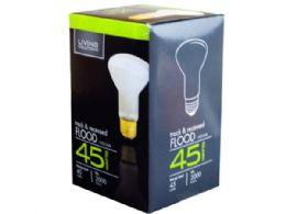 72 Units of Living Solutions 45 Watt Frosted Reflector R20 Flood Light B - Lightbulbs