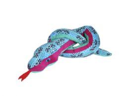 12 Units of Wild Republic 54in Honeycomb Blue Snake - Plush Toys
