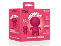 6 Units of Ampman Pink Bluetooth Speaker - Speakers and Microphones