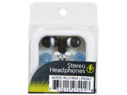 144 Units of Stereo Earbuds With 2 Extra Covers - Headphones and Earbuds