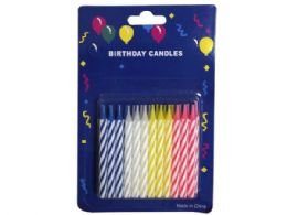 144 Units of 24 Piece Birthday Candle Set - Birthday Candles