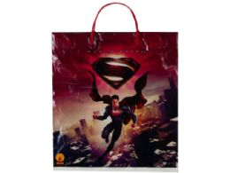 144 Units of Superman Plastic Tote Bag - Tote Bags & Slings