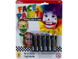 72 Units of 6pc Face Paint Sticks Set - Art Paints