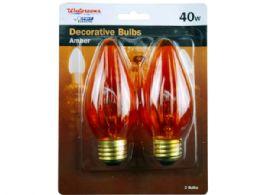 72 Units of 2 Pack 40 Watt Amber A15 Light Bulbs - Lightbulbs