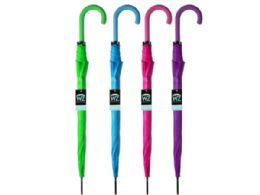 12 Units of Automatic Open Fashion Umbrella - Assorted Colors - Umbrellas & Rain Gear