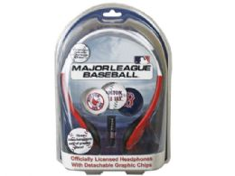36 Units of Boston Red Sox Mlb Detachable Graphic Headphones - Headphones and Earbuds
