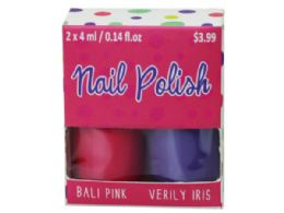 72 Units of 2 Pack Nail Polish - Manicure and Pedicure Items