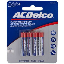 48 Units of Batteries Aaa 4pk Heavy Duty Ac Delco On Blister Card - Electronics